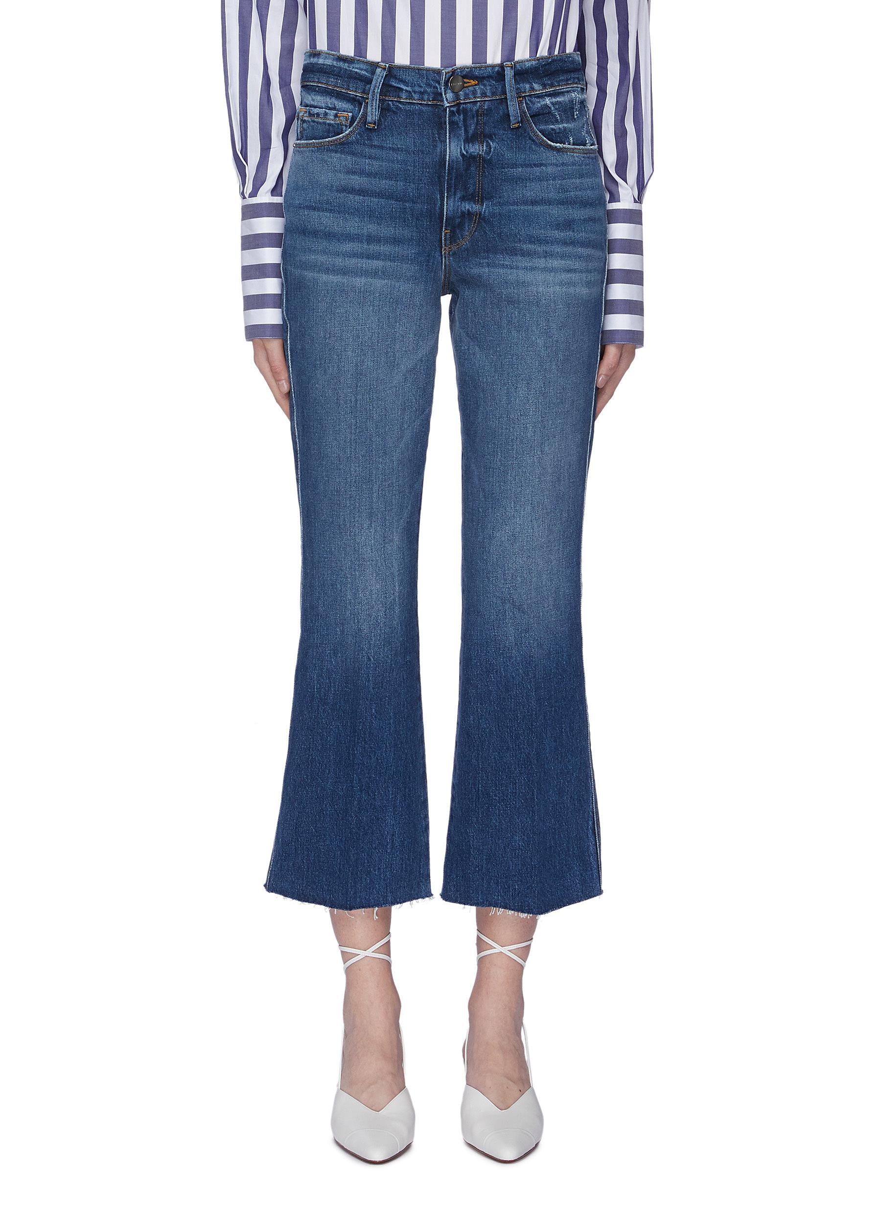 Le Sylvie cropped bootcut jeans by Frame Denim
