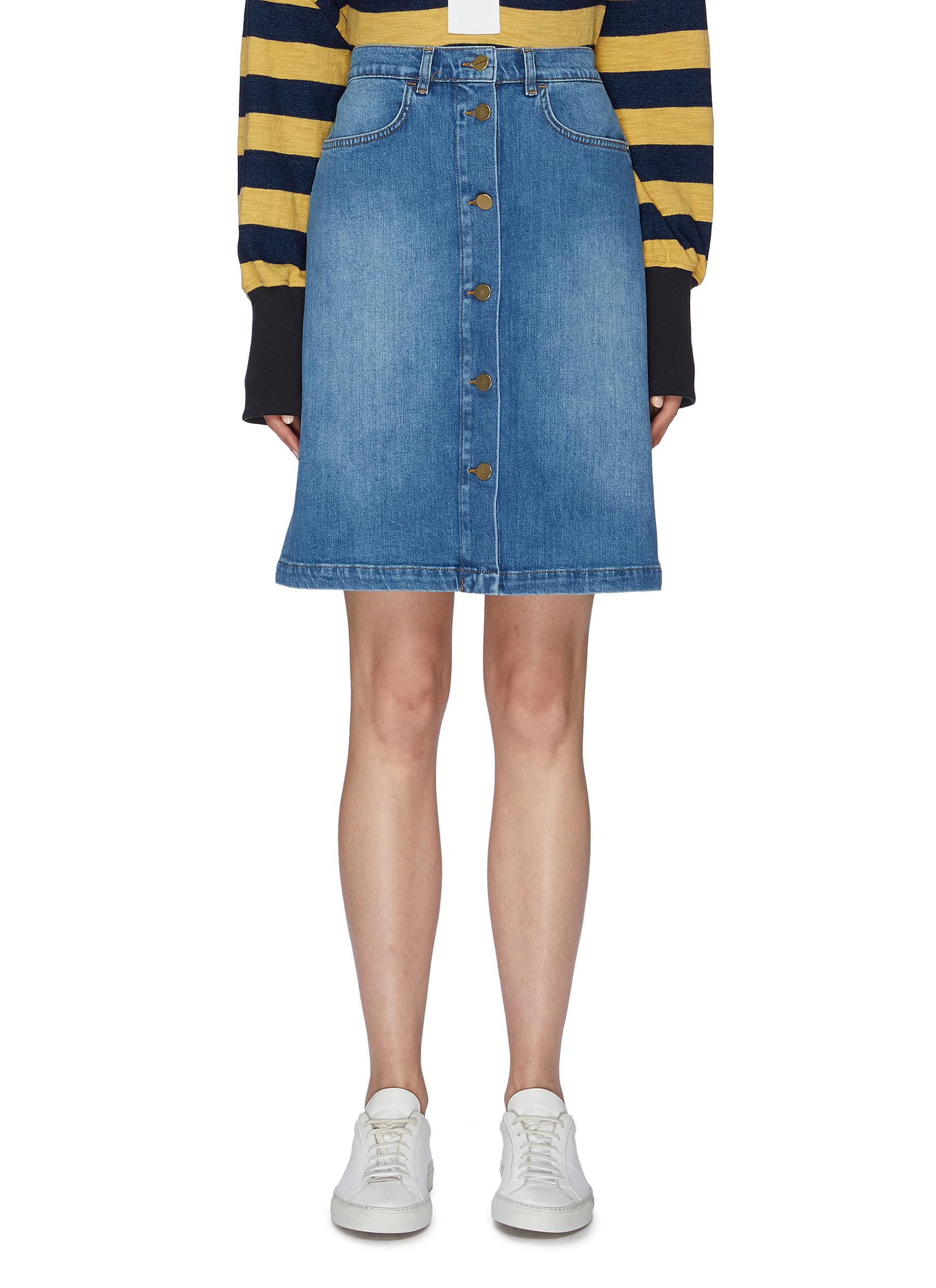 Vintage flared denim skirt by Frame Denim
