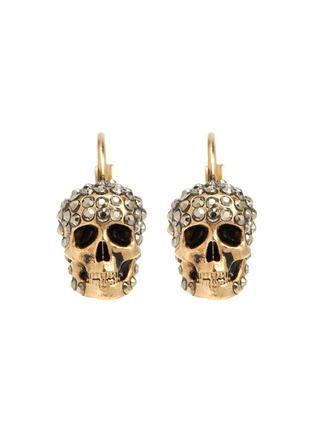 Main View - Click To Enlarge - ALEXANDER MCQUEEN - Swarovski crystal skull drop earrings