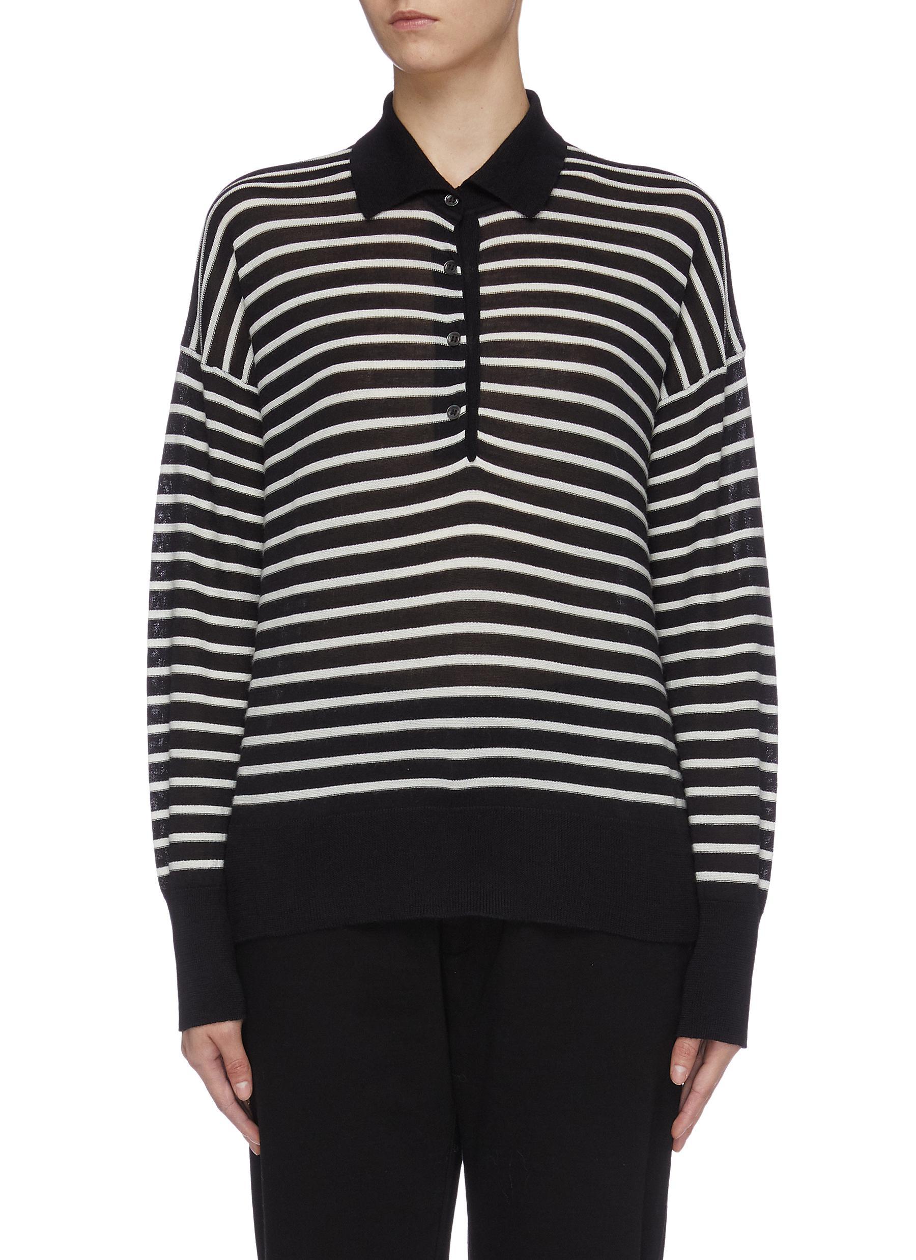 Zoe wool-silk-cashmere polo shirt by Barena