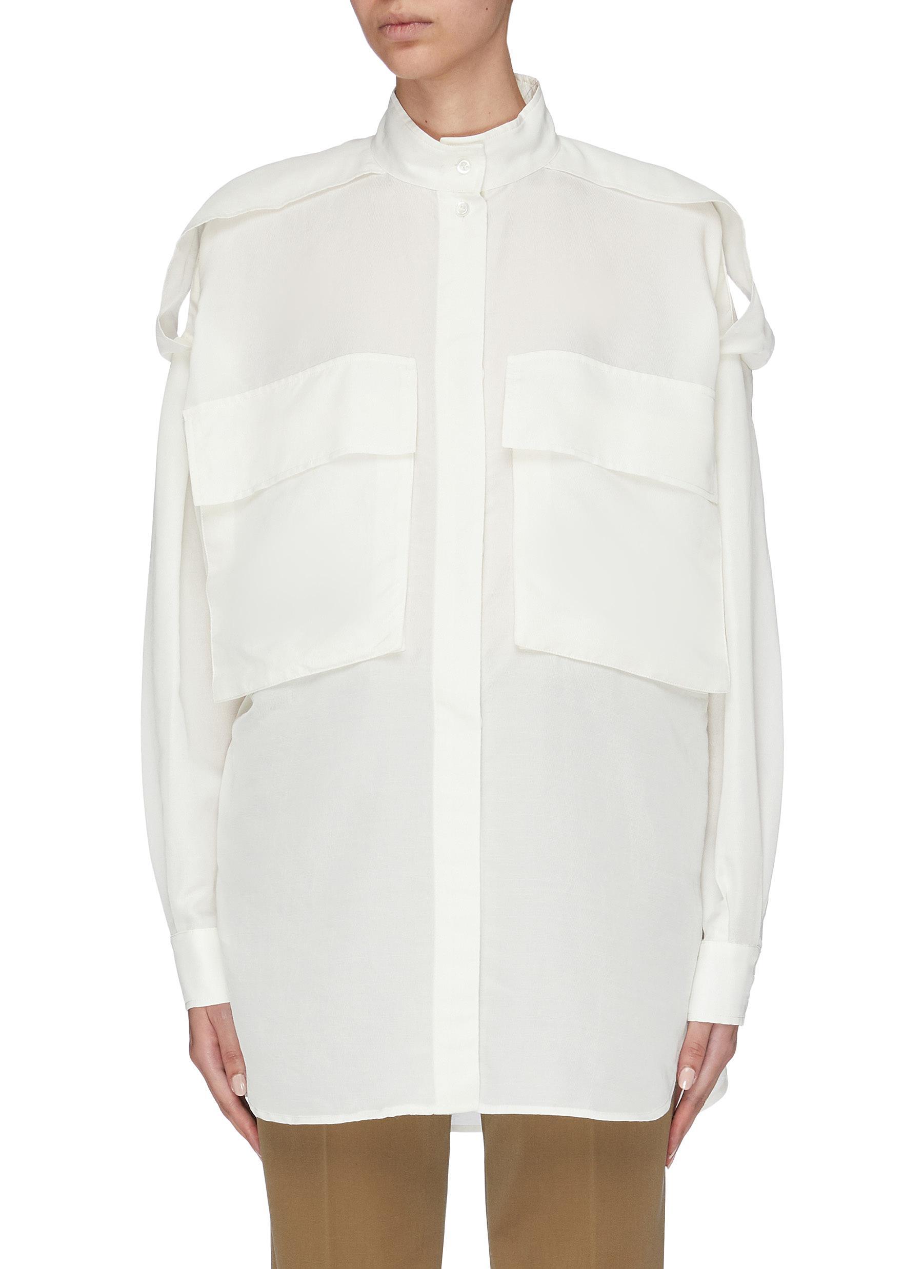 Simona flap pocket oversized shirt by Barena