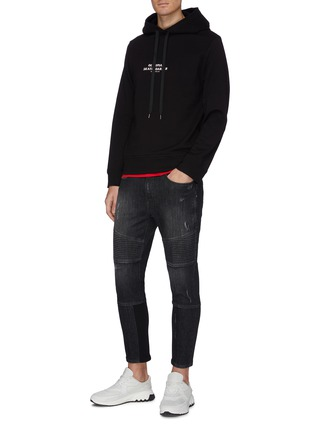 Figure View - Click To Enlarge - NEIL BARRETT - Ribbed panel washed skinny jeans