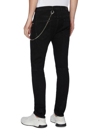 Back View - Click To Enlarge - NEIL BARRETT - Chain washed skinny jeans