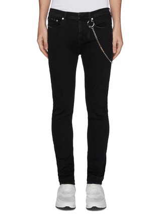 Main View - Click To Enlarge - NEIL BARRETT - Chain washed skinny jeans