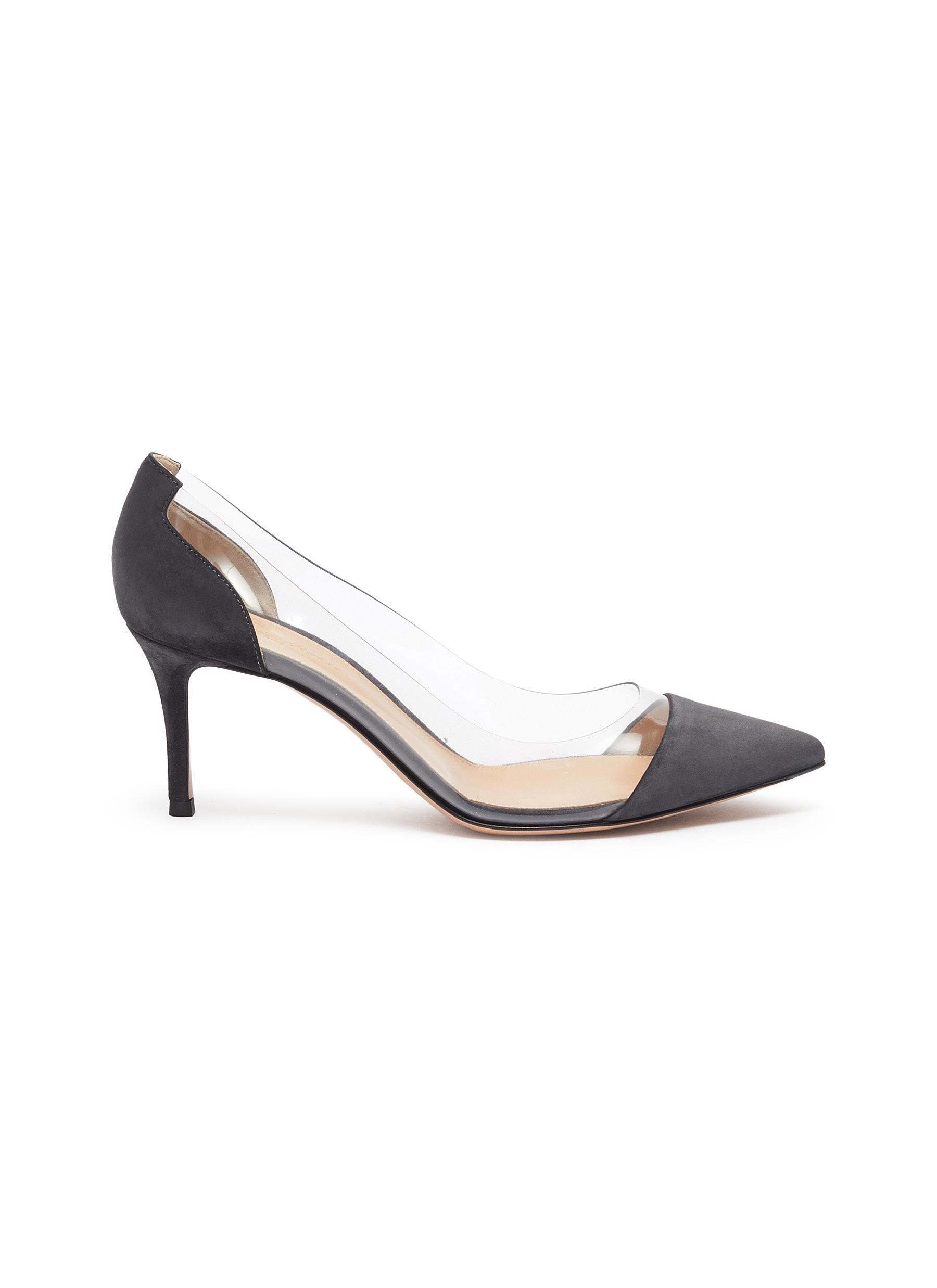 Plexi PVC and suede pumps by Gianvito Rossi