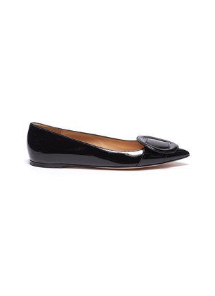 Main View - Click To Enlarge - GIANVITO ROSSI - Buckle skimmer flats