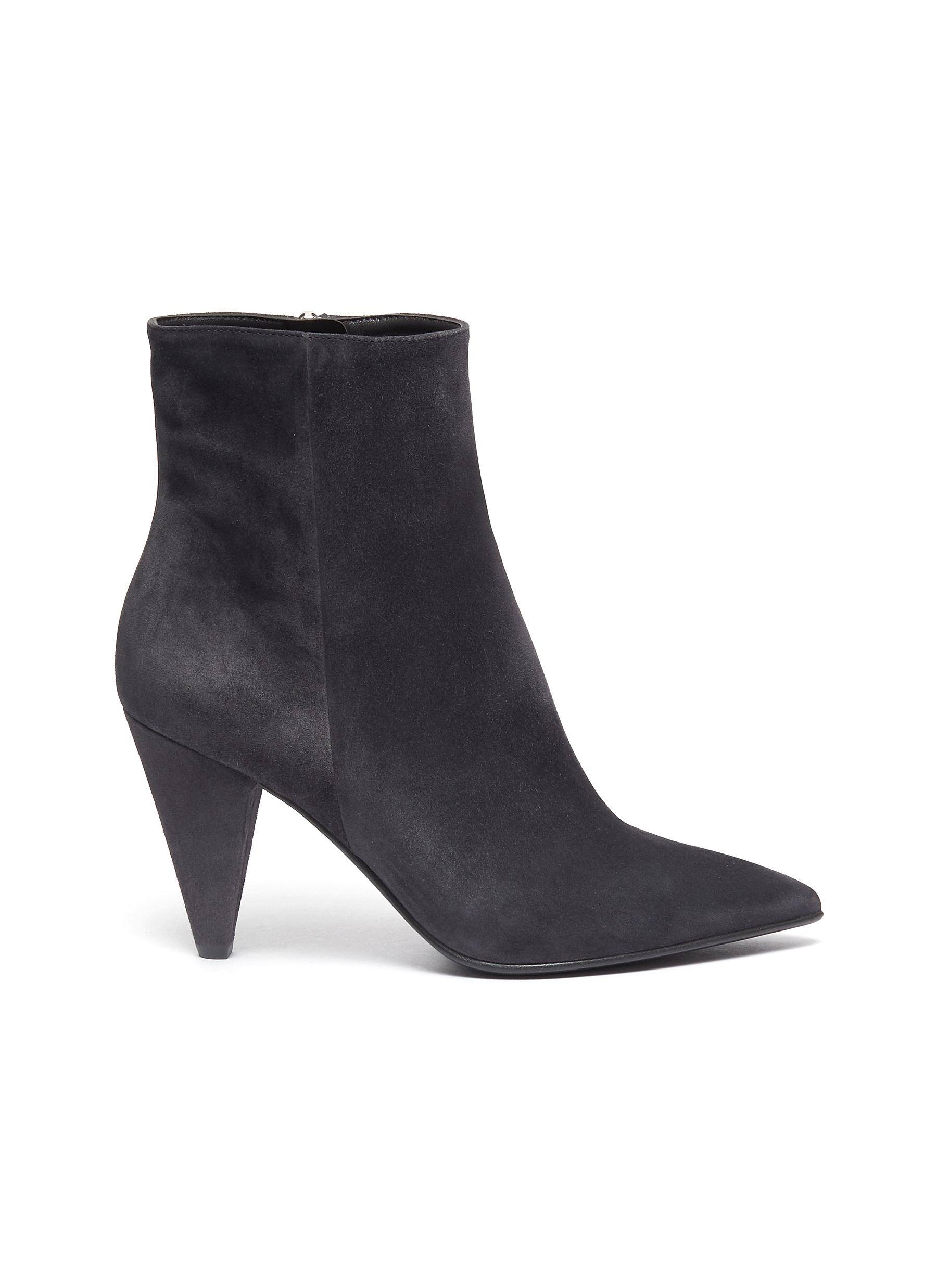 Stivale panelled suede ankle boots by Gianvito Rossi