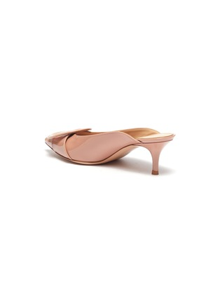 - GIANVITO ROSSI - Buckle patent leather mules