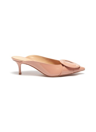 Main View - Click To Enlarge - GIANVITO ROSSI - Buckle patent leather mules