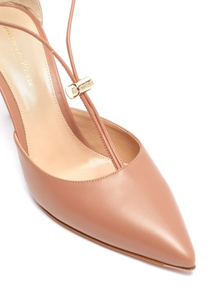Detail View - Click To Enlarge - GIANVITO ROSSI - Toggle strap leather d'Orsay pumps