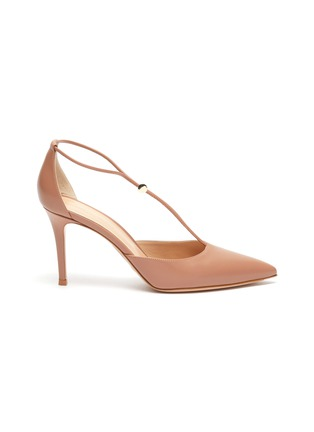 Main View - Click To Enlarge - GIANVITO ROSSI - Toggle strap leather d'Orsay pumps
