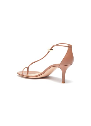 - GIANVITO ROSSI - Toe ring toggle leather strap sandals