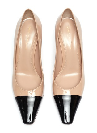 Detail View - Click To Enlarge - GIANVITO ROSSI - 'Lucy' contrast toecap patent leather pumps