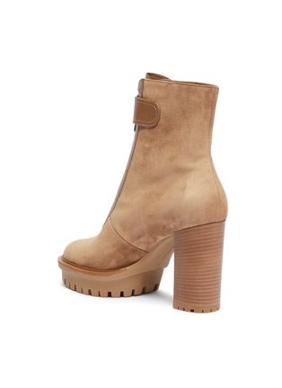 - GIANVITO ROSSI - 'Julian' zip front suede platform boots