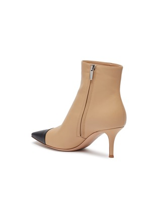 - GIANVITO ROSSI - 'Lucy' contrast toecap leather ankle boots