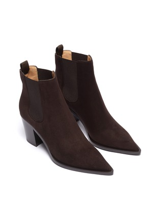 Detail View - Click To Enlarge - GIANVITO ROSSI - Suede Chelsea boots