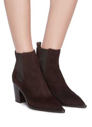 Figure View - Click To Enlarge - GIANVITO ROSSI - Suede Chelsea boots