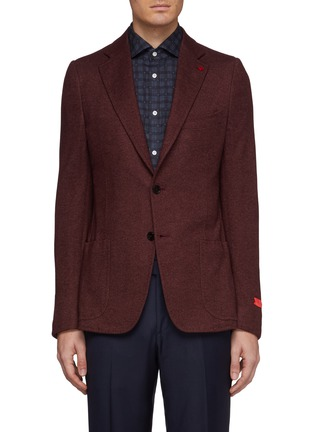 Main View - Click To Enlarge - ISAIA - 'Cortina' silk-cashmere knit blazer