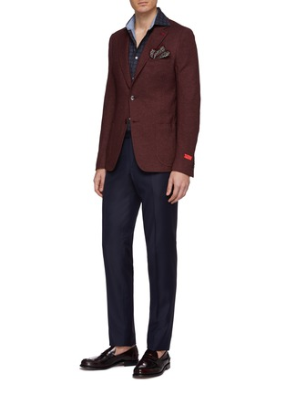 Figure View - Click To Enlarge - ISAIA - 'Cortina' silk-cashmere knit blazer
