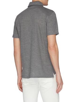 Back View - Click To Enlarge - ISAIA - Slim fit polo shirt