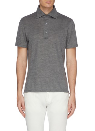 Main View - Click To Enlarge - ISAIA - Slim fit polo shirt