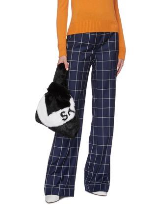 Figure View - Click To Enlarge - SIMONETTA RAVIZZA - 'Furrissima' logo stripe mink fur sac bag