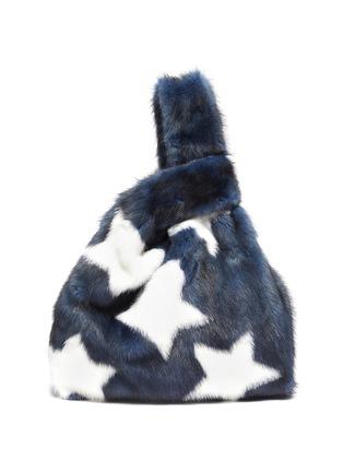 Main View - Click To Enlarge - SIMONETTA RAVIZZA - 'Furrissima Etoile' star print mink fur sac bag
