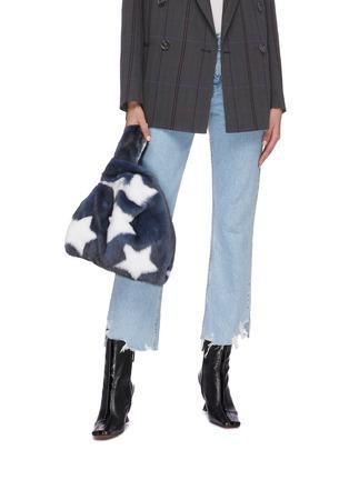 Figure View - Click To Enlarge - SIMONETTA RAVIZZA - 'Furrissima Etoile' star print mink fur sac bag
