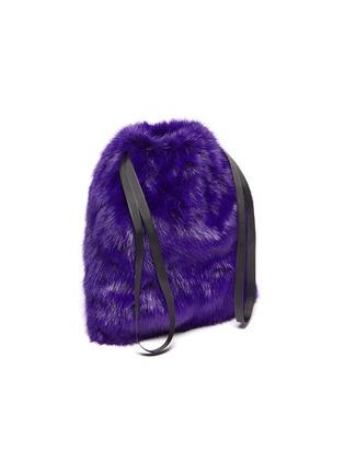 Detail View - Click To Enlarge - SIMONETTA RAVIZZA - 'Furrissima' mink fur drawstring pouch