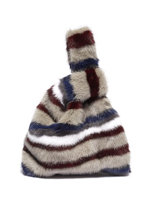 Main View - Click To Enlarge - SIMONETTA RAVIZZA - 'Furrissima' stripe print mink fur sac bag