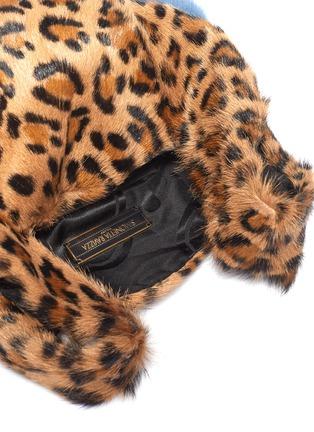 Detail View - Click To Enlarge - SIMONETTA RAVIZZA - 'Furrissima' leopard print mink fur sac bag