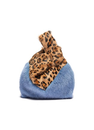 Main View - Click To Enlarge - SIMONETTA RAVIZZA - 'Furrissima' leopard print mink fur sac bag