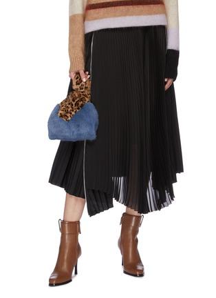 Figure View - Click To Enlarge - SIMONETTA RAVIZZA - 'Furrissima' leopard print mink fur sac bag