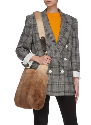 Figure View - Click To Enlarge - SIMONETTA RAVIZZA - 'Tracolla' mink fur shoulder strap