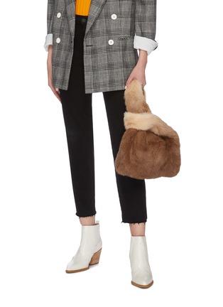 Figure View - Click To Enlarge - SIMONETTA RAVIZZA - 'Furrissima Degrade' mink fur sac bag