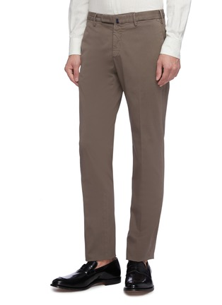 Front View - Click To Enlarge - INCOTEX - Slim fit twill chinos
