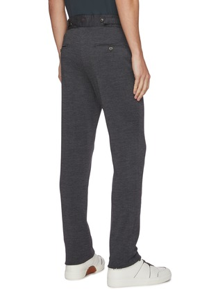 Back View - Click To Enlarge - ISAIA - Jersey stretch jogging pants