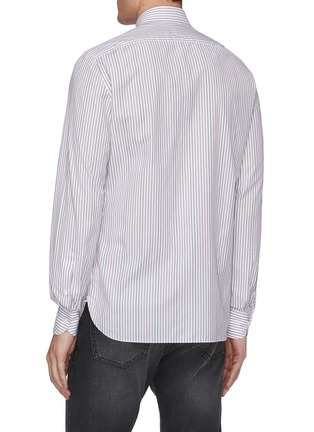 Back View - Click To Enlarge - ISAIA - Milano stripe cotton shirt