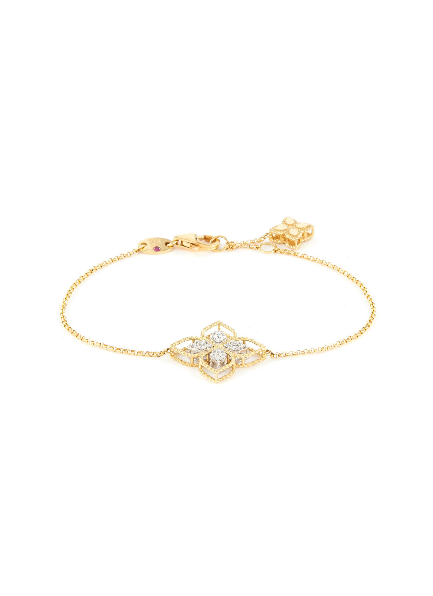 dd8dce5b949bd ROBERTO COIN | 'Princess Flower' diamond 18k yellow gold charm ...