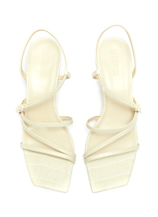 Detail View - Click To Enlarge - MERCEDES CASTILLO - 'Kelise' strappy croc embossed leather sandals