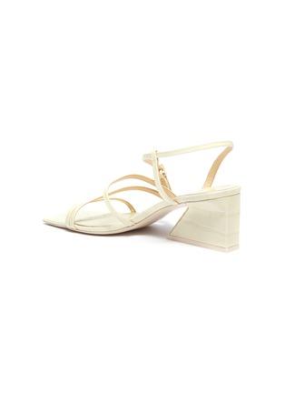 - MERCEDES CASTILLO - 'Kelise' strappy croc embossed leather sandals