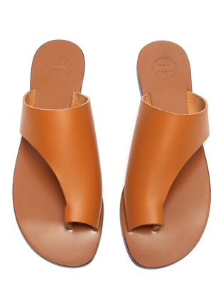 Detail View - Click To Enlarge - ATP ATELIER - 'Rosa' cutout leather slide sandals