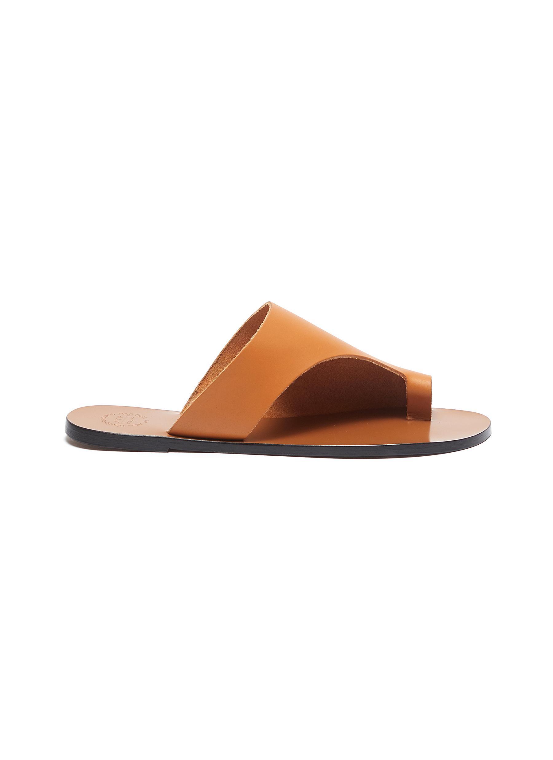 Rosa cutout leather slide sandals by Atp Atelier