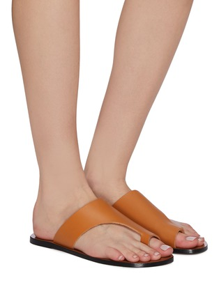 Figure View - Click To Enlarge - ATP ATELIER - 'Rosa' cutout leather slide sandals