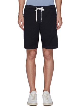 Main View - Click To Enlarge - Theory - 'Nevins' drawstring twill shorts