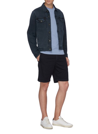 Figure View - Click To Enlarge - Theory - 'Nevins' drawstring twill shorts