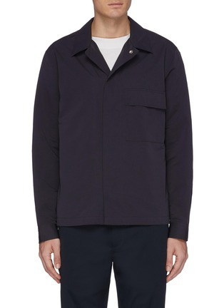Main View - Click To Enlarge - Theory - 'Trevor' chest pocket shirt jacket