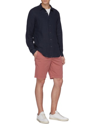 Figure View - Click To Enlarge - Theory - 'Irving' linen shirt