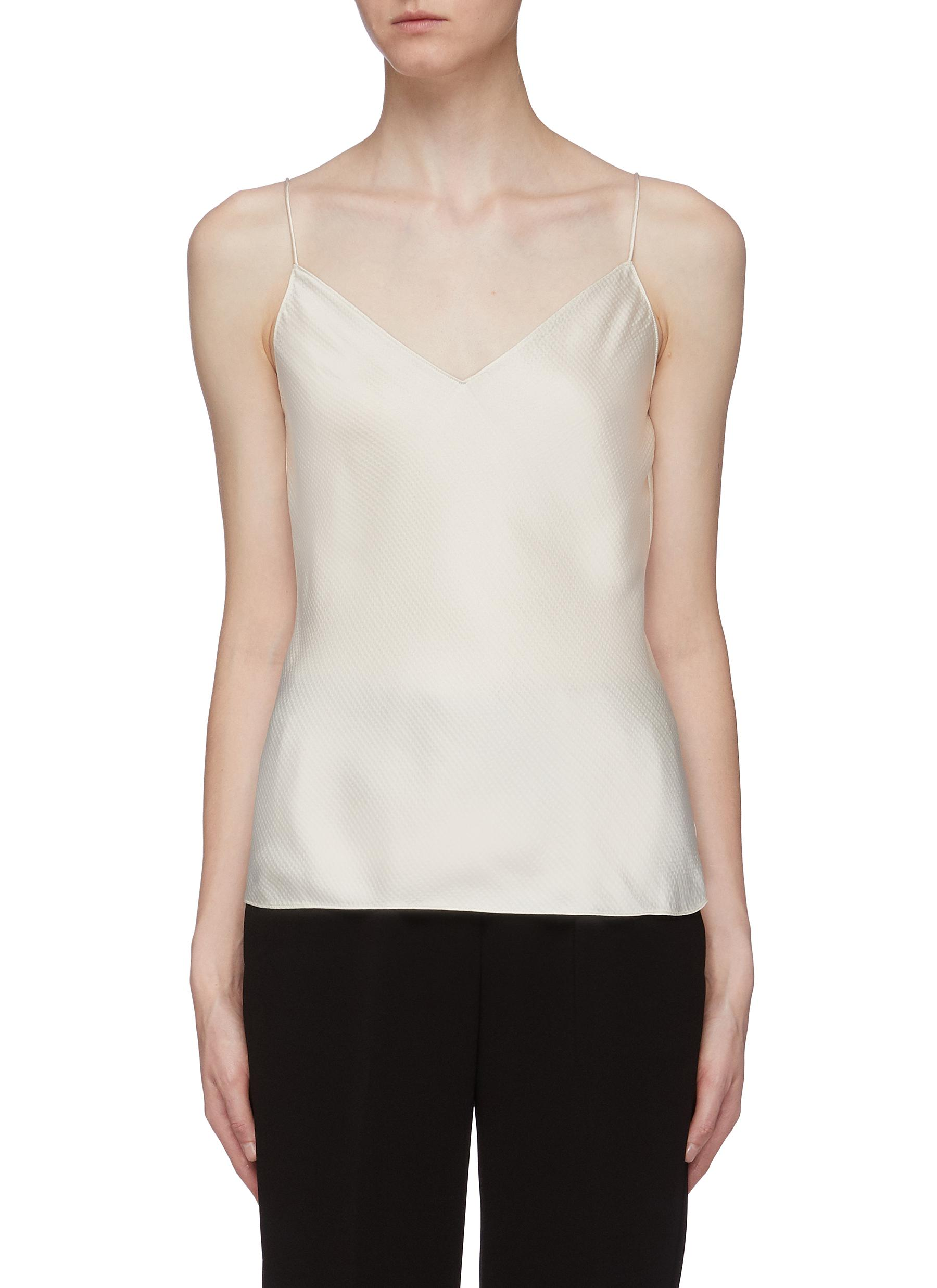 Easy hammered satin camisole top by Theory