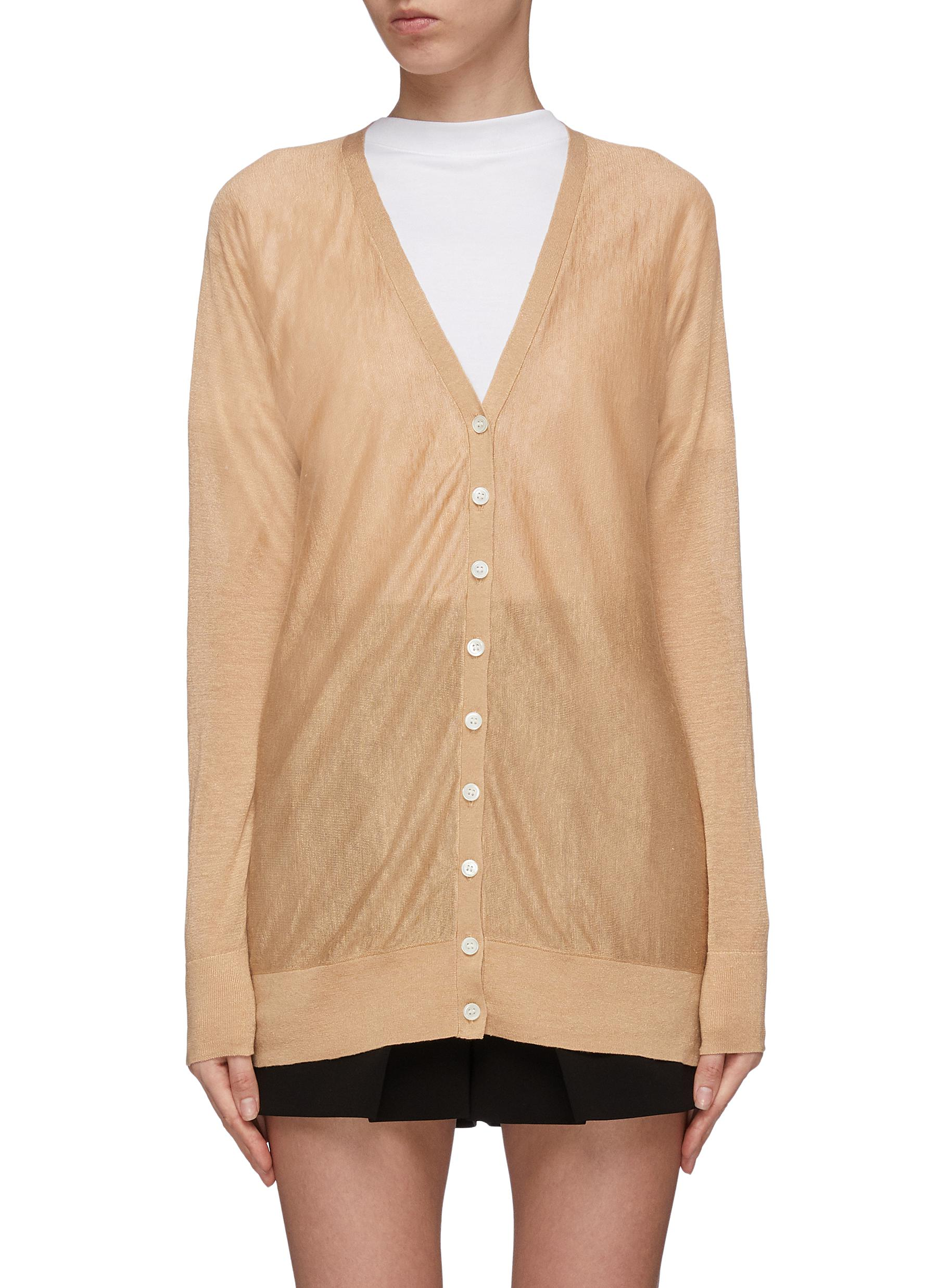 Dolman sleeve linen blend cardigan by Theory